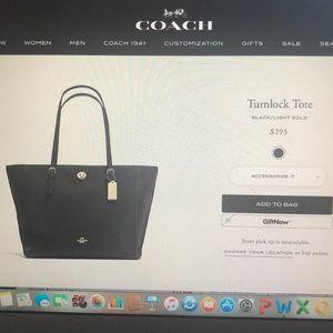 Coach Turnlock Tote